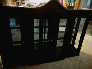 Cherry Wood finished cabinet