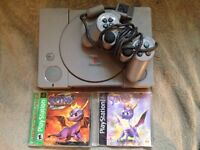 PlayStation with Spyro Games & Controller