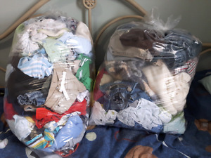 3 garbage bags full 0-9months boy clothes