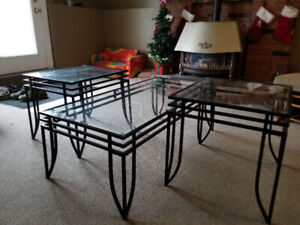 Glass Top Table Set