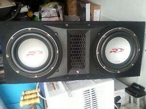 ALPINE TYPE R10 SUBS IN ROCKFORD FOSGATE BOX EXCELLENT CONDITION