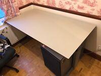 FREE - Super sturdy office desk + side board