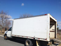 16ft  cube van for hire Fredericton/Oromocto