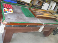 Gorgeous, Solid Wood Pool Table - All Accessories, etc