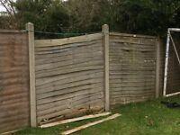 9 6x6 ft fence panels
