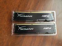 Kingston Hyper X DDR3 8GB (2x4gb sticks)