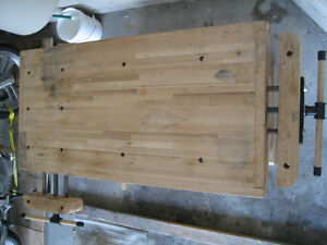 Woodworker's Bench - Solid Maple w/tail and side vises Kitchener / Waterloo Kitchener Area image 8