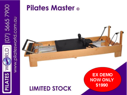 PILATES MASTER PM-01 COMMERCIAL BEECHWOOD REFORMER EX DEMO