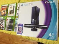 X-BoX 360 Neuf-avec Kinect plus jeux 160$. Wow