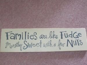 GREAT CONVERSATION PIECE......NUTTY FAMILY SIGN