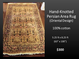 Beautiful Persian Rug, Hand-knotted, 100% natural fibers