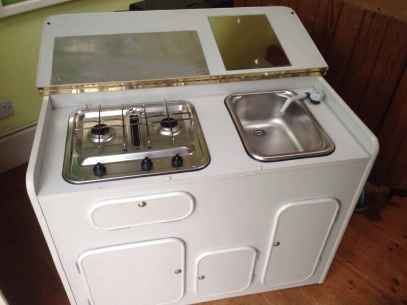 Camper Van Kitchen Pod Unit With Smev Hob Grill And Sink