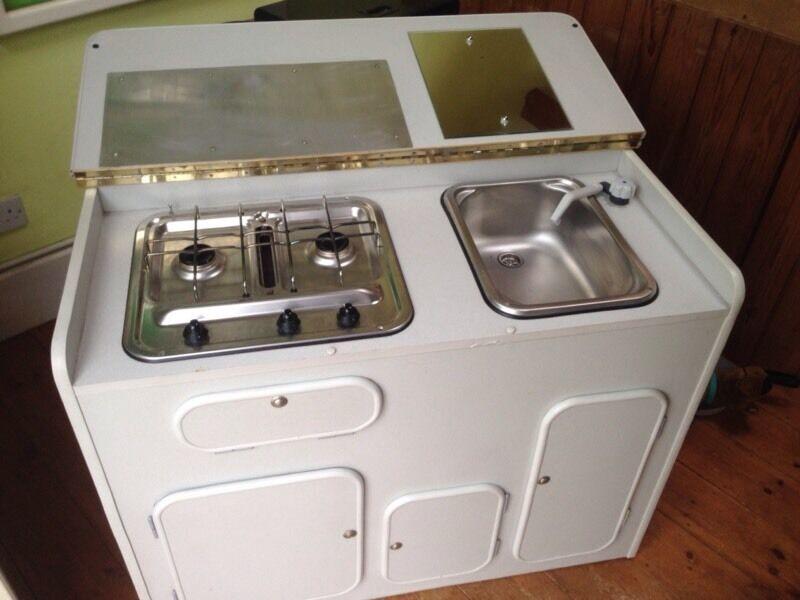 Camper van kitchen pod unit with smev hob grill and sink for Camper van kitchen units