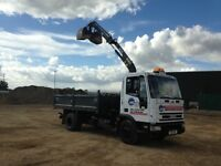Grab hire, rubbish clearance, aggregates delivered.