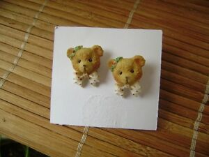 CHERISHED TEDDIES PIERCED EARRINGS