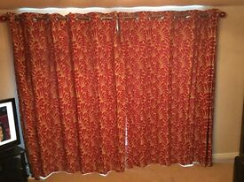 NEXT curtains with cushions