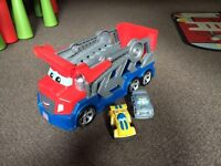 Transporter with cars