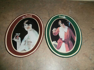 2 SMALL COCA COLA TIP TRAYS