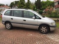 Vauxhall Zafira 7 seater silver good condition parts for sale brand tyres and battery replaced