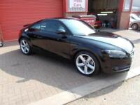 AUDI TT 2.0T FSI S Tronic AUTOMATIC 07/07 BLACK WITH BLACK LEATHER
