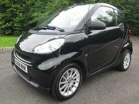 09/58 SMART FOR TWO 1.0 PASSION CABRIOLET 84 AUTOMATIC IN MET BLACK