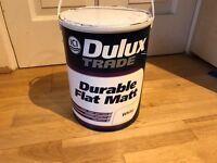 Delux white flat Matt 5 litre tin new