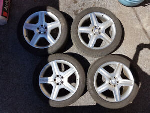 "20"" Mercedes amg rims with tires"