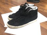 Nike blazer trainer black size 9 uk