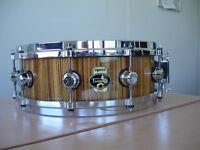Snare Tamburo Opera Zebrawood NEW ! very rare made in Italy 14x*5
