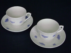 BLUE CHELSEA  ADDERLEY CHINA CUPS AND SAUCERS