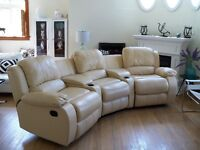 GENUINE LEATHER 5 PIECE SECTIONAL & WEDGE CONSOLES ~ CAN DELIVER