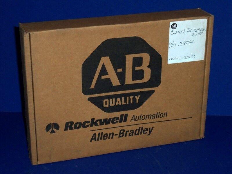 ALLEN BRADLEY SP-135774 CURRENT TRANSFORMER KIT, 3-30 Hp, NIB, SEALED *PZF*