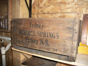 1930's Sydney Mineral Springs Soda crate