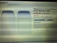 Whirlpool washer dryer combo Brand new!!!