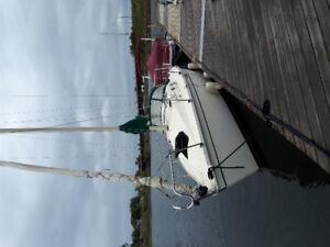 1986 hunter 25.5 sail  boat