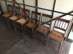 Cane Chairs and Rocker
