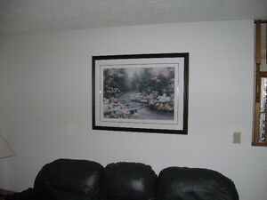 LARGE FRAMED RIVER SCENERY PICTURE