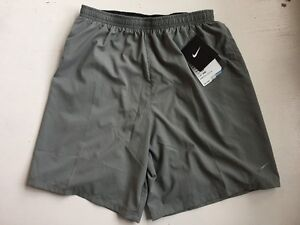 NWT Men's Nike 2-IN-1 DRI-Fit Grey/Black Shorts, Style 683279