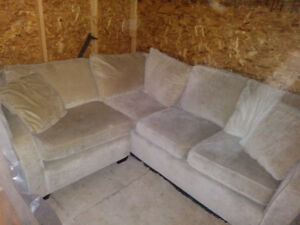 Beautiful White Sectional Couch - $200 OBO