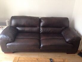 Real leather sofa (3 seater)