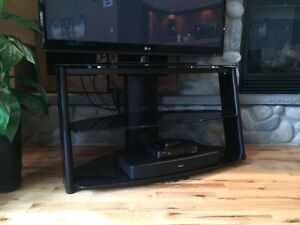 Moving Sale!! Black glass TV stand $75 obo