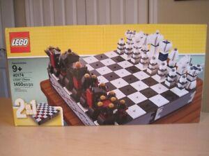 Lego 40174 Iconic Chess game, 2 en 1, jeux d' échecs et dame