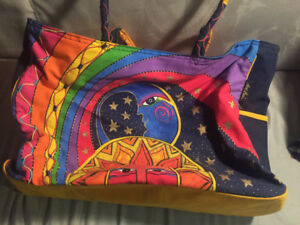"""Funky colourful tote 18""""x15"""" $50 or best offer"""