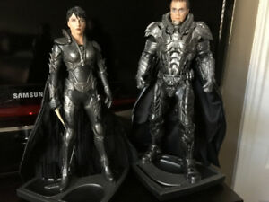 superman Man of Steel zod and faora 12 inch statues $60 for both