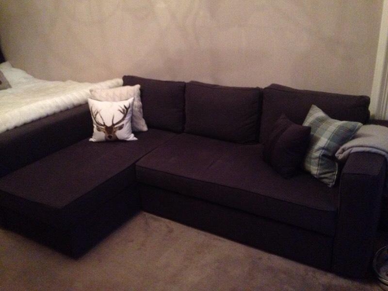 ikea manstad l shaped sofa bed in edinburgh gumtree. Black Bedroom Furniture Sets. Home Design Ideas