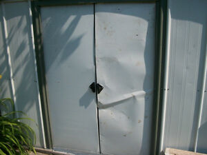 WE ARE LOOKING FOR ALUMINUM SHED DOORS!!!