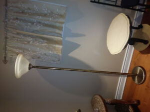 BEAUTIFUL AND ELEGANT 3 piece BRASS &WHITE LAMPS
