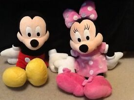 Mickey and Minnie Mouse (excellent condition)