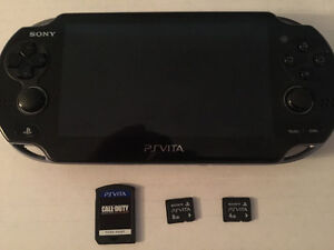 Playstation vita + cartes mémoire + Call of duty