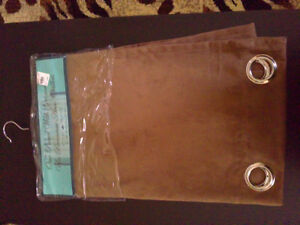 Brown fabric long curtain panel New with tags